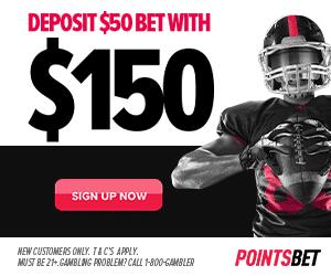 PointsBet Deposit $50 Bet with $150