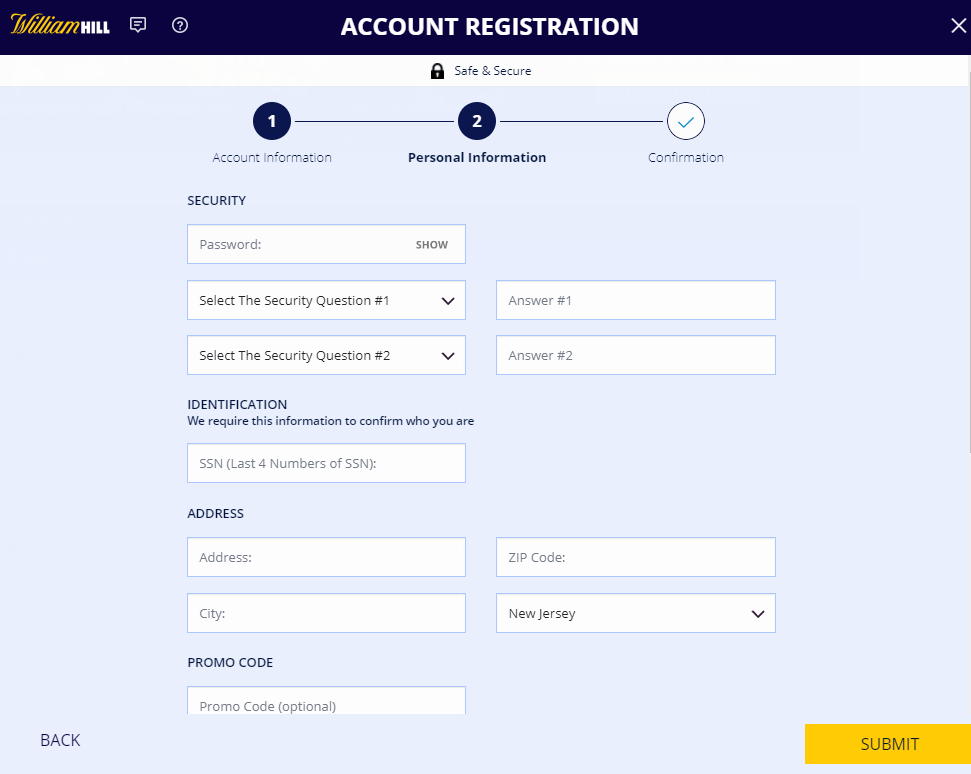 William Hill signup
